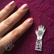 Mini Acrylic Hand - set of 25
