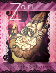 Zari - Arabic / Gulf Henna Designs by Devaky S Dharan