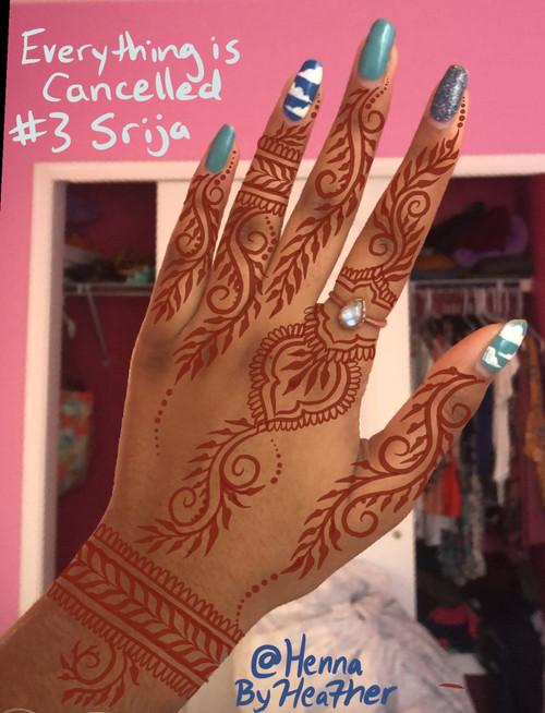 Virtual Henna - Indian fusion style