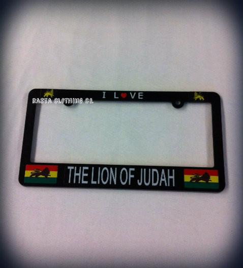 Lion Of Judah Rasta King Novelty License Plate Tag