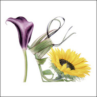 BS77420 - Sunflower Shoe (6 blank cards)