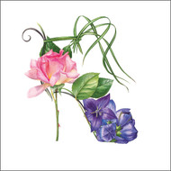 BS77663- Violet and Rose Shoe (6 blank cards)