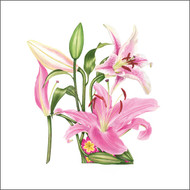 BS77664- Pink Lily Shoe (6 blank cards)