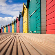 EF12051 - Beach Huts (6 blank cards)