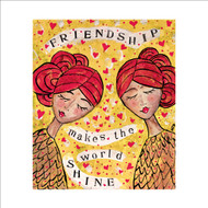 MD89981 - Friendship Makes the World Shine (6 blank cards)