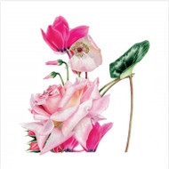 BS77015 - Pink Rose Slipper (6 blank cards)