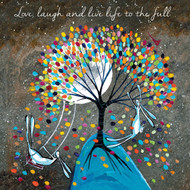 KA82028 - Love, laugh and live life to the full (6 blank cards)