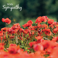 SM14225S - Poppies (6 sympathy cards)
