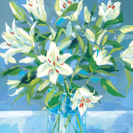 CH33077 - White Lilies (6 blank cards)