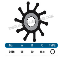 JMP FLEXIBLE IMPELLER #7436-01 (SPECS)