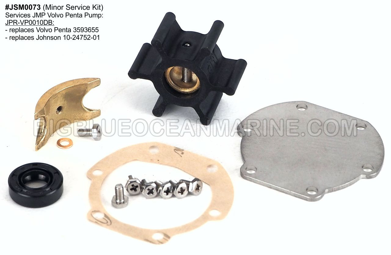 Sea Water Pump Impeller Minor Repair Kit Fits Johnson 10-35098-2 Volvo 829895