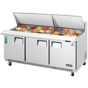 """NEW 3 Door 72"""" Refrigerated Mega Top Sandwich Prep Table Stainless Steel NSF Everest EPBR3 #3124"""
