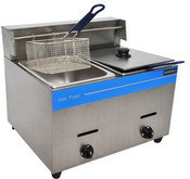 NEW 2 Well Double Counter Top Fryer LP Propane 50K BTU UNIWORLD UGF-72H #3869