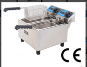 NEW Double Basket Deep Fat Fryer Electric Counter Top UNIWORLD UEF-062 #3871