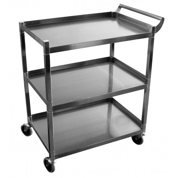 New 3 Tier Utility Bus Cart Stainless Steel Gsw C 31k 3902 Mike S Restaurant Supply Inc