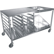 "NEW 66"" Donut Glazing Icing Prep Table All Stainless Steel Cart GSW DN-TBL #3895"