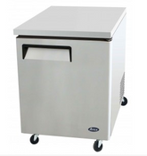 "NEW 1 Door 28"" Undercounter Refrigerator Solid Stainless Steel Cooler Atosa MGF8401GR #1017"