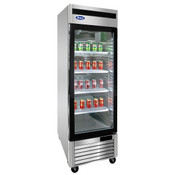 "NEW 1 Glass Door 27"" Refrigerator Stainless Steel Reach In Cooler NSF Atosa MCF8705GR #1032"