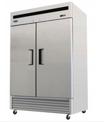 "NEW 2 Door 55"" Refrigerator Solid Stainless Steel Reach In Cooler NSF Atosa MBF8507GR #1930"