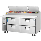 """NEW 4 Drawer 71"""" Refrigerated Pizza Prep Table Stainless Steel Cooler NSF Everest EPPR2-D4 #4062"""
