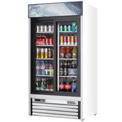 "NEW 2 Glass Sliding Door 40"" Reach-In Merchandiser Cooler Display NSF Everest EMGR33 #4066"
