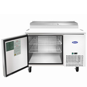 "NEW 1 Door 44"" Refrigerated Pizza Prep Table Stainless Steel Cooler NSF Atosa MPF8201GR #2228"