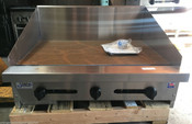 "NEW 36"" Griddle w/ 12"" Back Splash Gas Flat Top Grill SMG-36-SB-12H #4098"