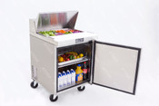 "NEW 1 Door 28"" Refrigerated Prep Table Solid Stainless Steel Cooler NSF Atosa MSF8301GR #2224"