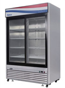 "NEW 2 Sliding Glass Door 55"" Refrigerator Stainless Steel Reach In Cooler Atosa MCF8709GR  #2346"