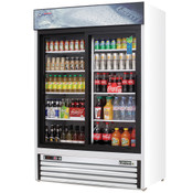 "NEW 2 Glass Sliding Door 53"" Reach-In Merchandiser Cooler Display NSF Everest EMGR48 #4227"