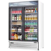 "NEW 2 Glass Swing Door 53"" Reach-In Merchandiser Cooler Display NSF Everest EMSGR48 #4228"