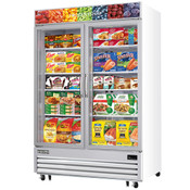 "NEW 2 Glass Swing Door 55"" Reach-In Merchandiser Freezer Display NSF Everest EMGF48 #4231"