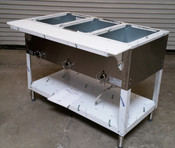 3 Well Gas Steam Table Dry Bath 303 AEROHOT (NEW) #4405