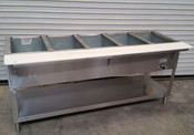 5 Well Gas Steam Table Wet Bath WB305 AEROHOT (NEW) #4404