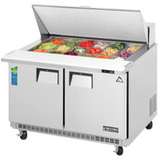 """NEW 2 Door 48"""" Refrigerated Mega Top Sandwich Prep Table Stainless Steel NSF Everest EPBR2 #3123"""