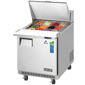 "NEW 1 Door 28"" Refrigerated Mega Top Sandwich Prep Table Stainless Steel NSF Everest EPBR1#3122"