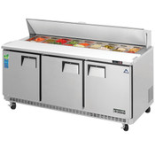 """NEW 3 Door 72"""" Refrigerated Sandwich Prep Table Stainless Steel Cooler NSF Everest EPBNR3 #3121"""