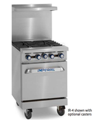 "NEW 24"" Range 4 Open Flame Burner & Standard Oven Imperial IR-4 #4580"