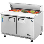 """NEW 2 Door 48"""" Refrigerated Sandwich Prep Table Stainless Steel Cooler NSF Everest  EPBNR2 #3120"""