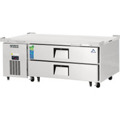 "NEW 2 Drawer 60"" Refrigerated Chef Base Stainless Steel Worktop Cooler NSF Everest ECB52-60D2 #3117"