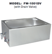 Food Warmer w/ Drain Valve UNIWORLD FW-1001DV (NEW) #4594