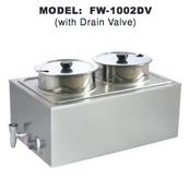 NEW Double 8 Qt Food Warmer & Drain Uniworld FW-1002DV #4596