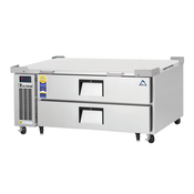 "NEW 2 Drawer 52"" Refrigerated Chef Base Stainless Steel Worktop Cooler NSF Everest ECB52D2 #3116"