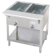 NEW 2 Well Gas Steam Table Dry Bath Duke 302 AEROHOT #4665