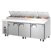 """NEW 3 Door 93"""" Refrigerated Pizza Prep Table Stainless Steel Cooler NSF Everest EPPR3 #4822"""
