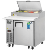 "NEW 1 Door 36"" Refrigerated Pizza Prep Table Stainless Steel Cooler NSF Everest EPPR1 #4835"