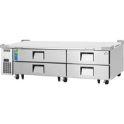 "NEW 4 Drawer 84"" Refrigerated Chef Base Stainless Steel Worktop Cooler NSF Everest ECB82-84D4 #4944"