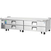 "NEW 4 Drawer 96"" Refrigerated Chef Base Stainless Steel Worktop Cooler NSF Everest ECB96D4 #4945"