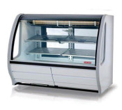 "NEW 74"" Refrigerated Display Case NSF Torrey Pro-Kold DDC-80-W Bakery Deli White #4952"