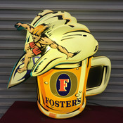 Fosters Surfing Beer Sign Lighted #5527